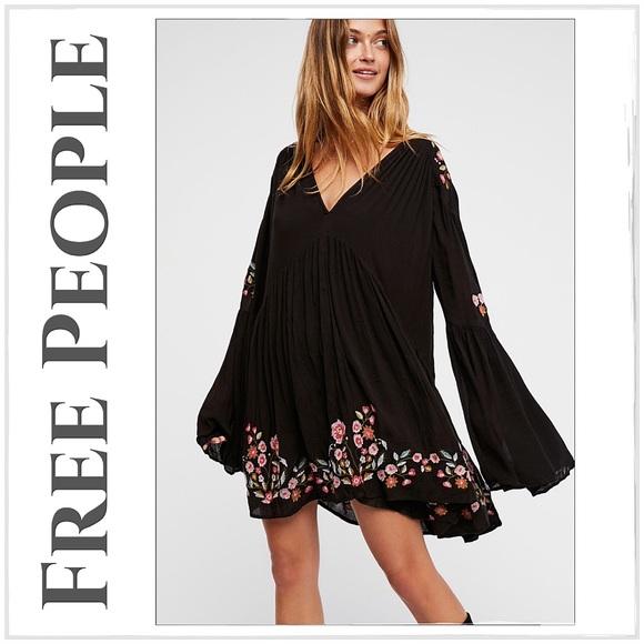 681aeeed9f70 Free People Dresses   Boho Black Te Amo Mini Dresstunic   Poshmark